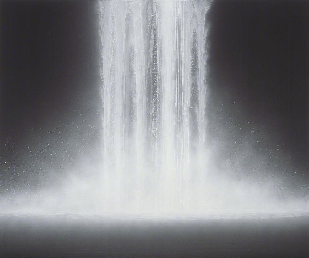 日本绘画大师 Hiroshi Senju  大型瀑布画作     www.hiroshisenju