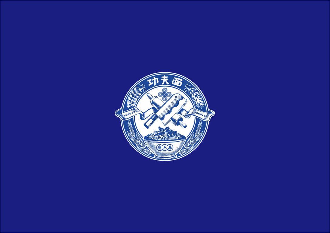 鲜乐福功夫面 面馆LOGO设计和VI形象设计