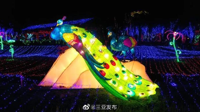 三亚海棠湾水稻国家公园举办迎春灯会,时间持续至2月16日