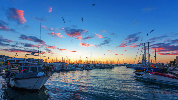 戛纳,法国蔚蓝海岸的一个魅力小城镇,却因电影节而举世闻名。~
