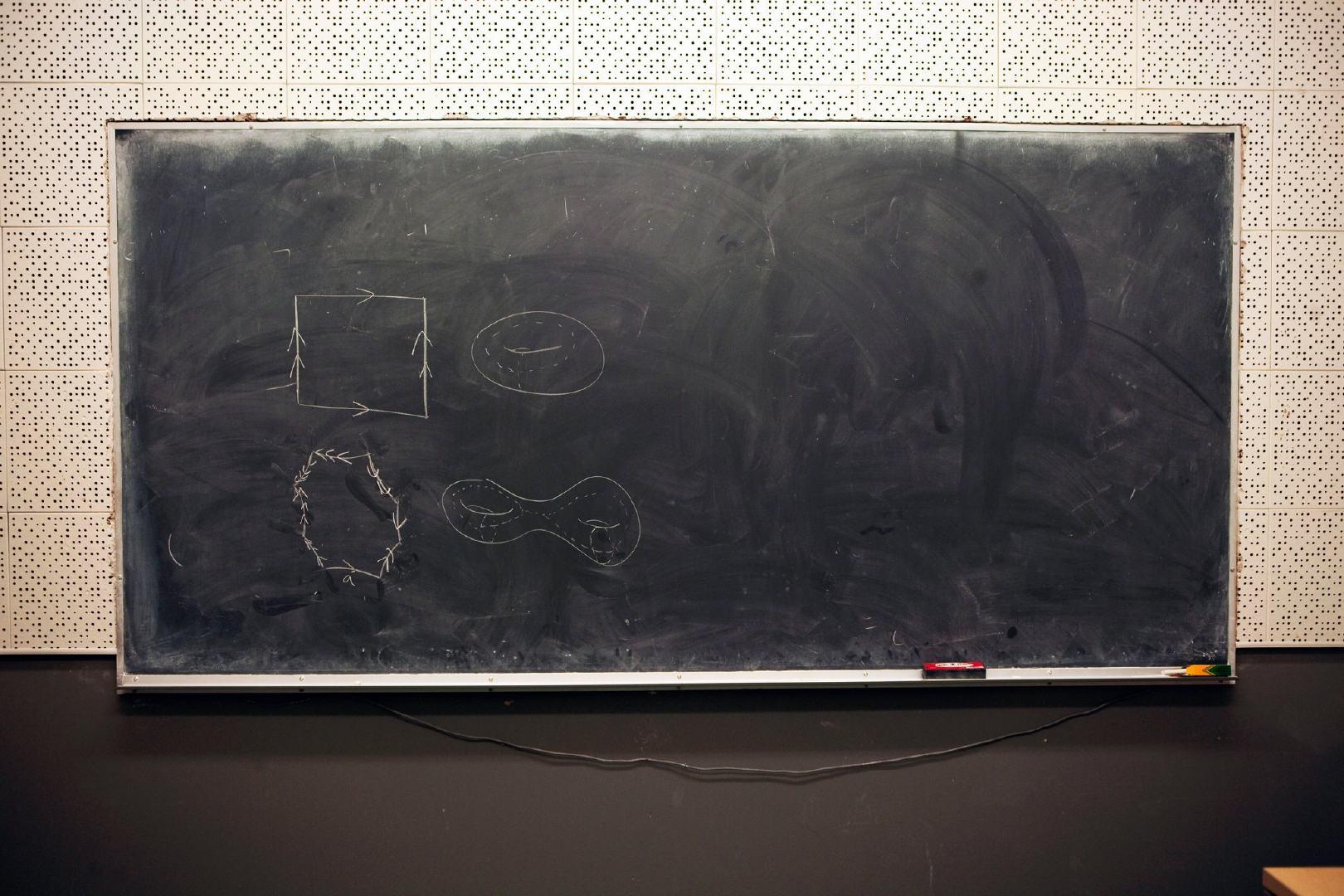 研究数学 = 研究在黑板上画画