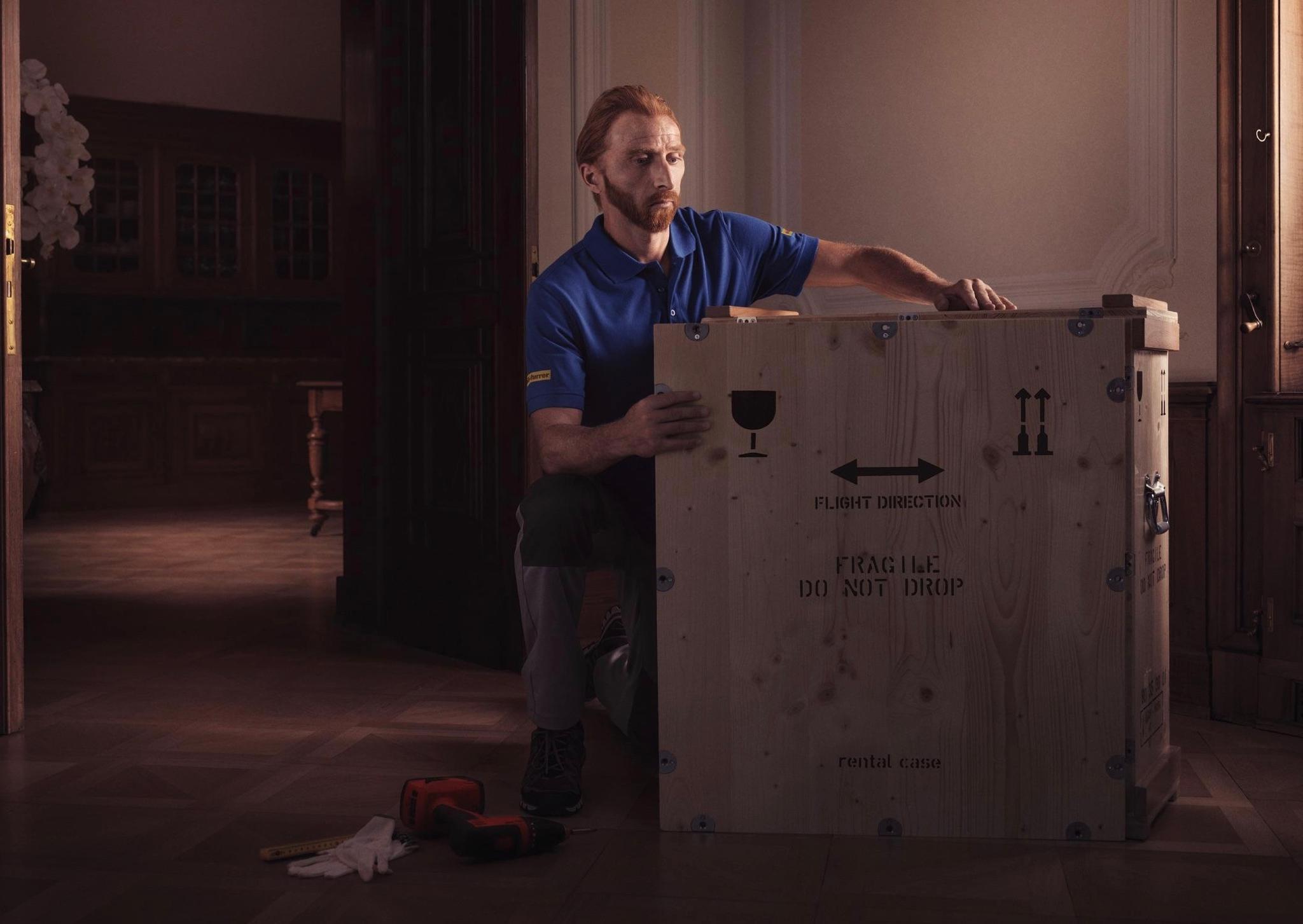 瑞士运输公司 Welti-Furrer 艺术品搬运业务的广告