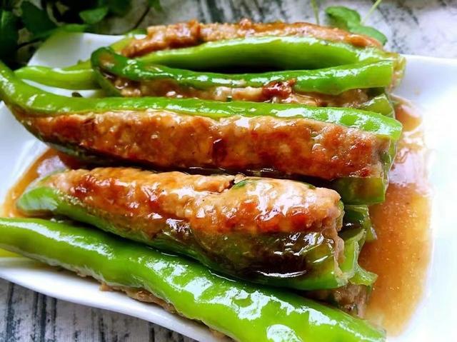 绿色酿肉腊肉吃的14款最好,比排骨都好吃,亲朋好友聚秘制好菜做法煮一下出现青青椒图片