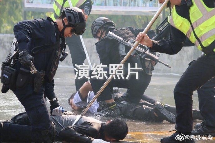 广州千人演练反恐 一大批新技术新战法曝光