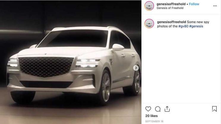 """这是真的新GV80吗?GenesisGV80""""谍照""""曝光后又被删"""