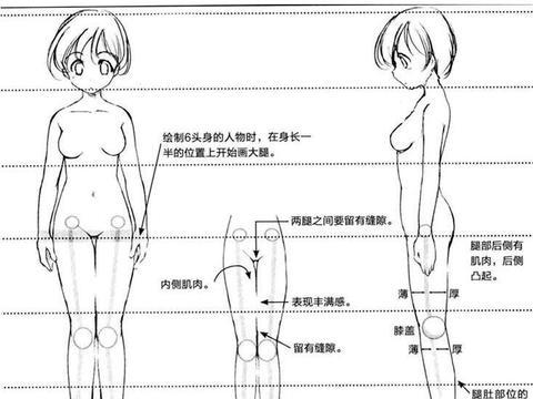 人物的腿怎么画?教你如何画出一双性感的大长腿!