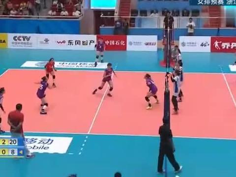 女排全运比赛,浙江女排3 0横扫天津女排,取得小组赛首胜