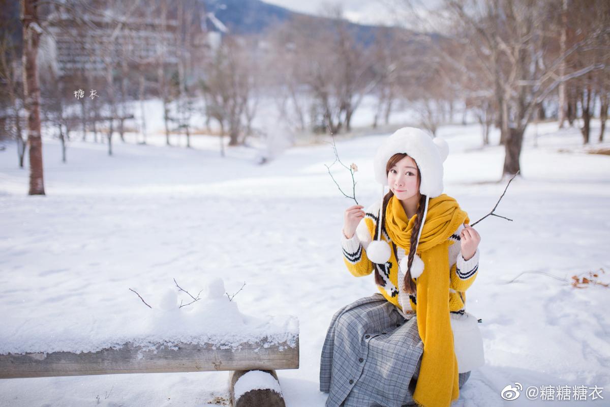 分享一只半个月前在阿寒湖的小黄~在结冰的阿寒湖散步、坐香蕉船、开