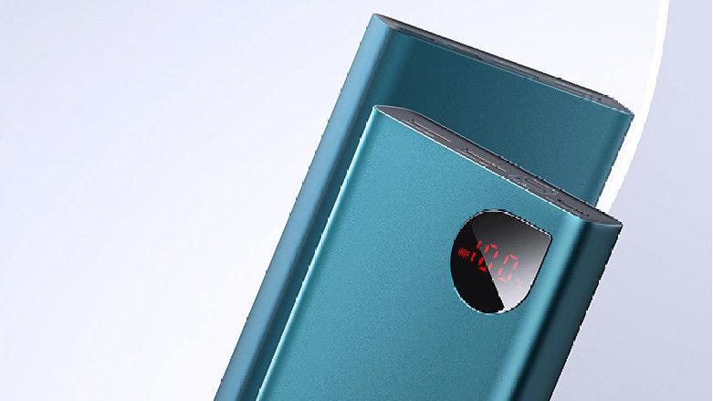 倍思推出Adaman数显快充移动电源,自带水滴LED屏可知充电状态