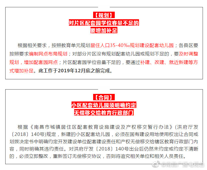重磅!9月底前,南昌这些幼儿园须无偿移交教育部门