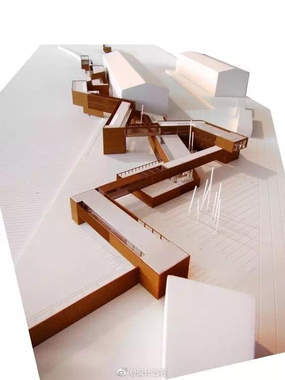 建筑工作模型,设计构思的表达 …