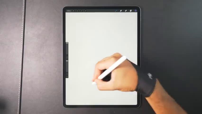 插画教学:Gal Shir使用Procreate在iPad上绘画沙漠的过程~