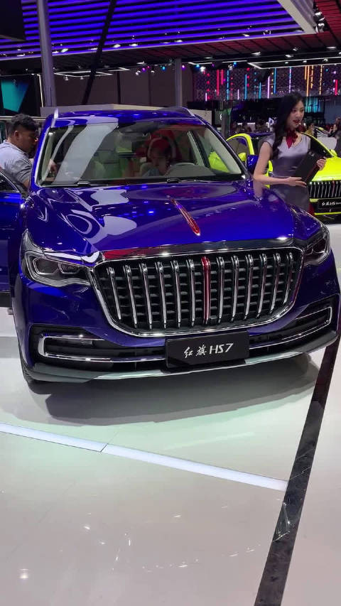 视频:上海车展实拍红旗H7S,红旗终于有SUV了,尺寸很大,样子很霸气!