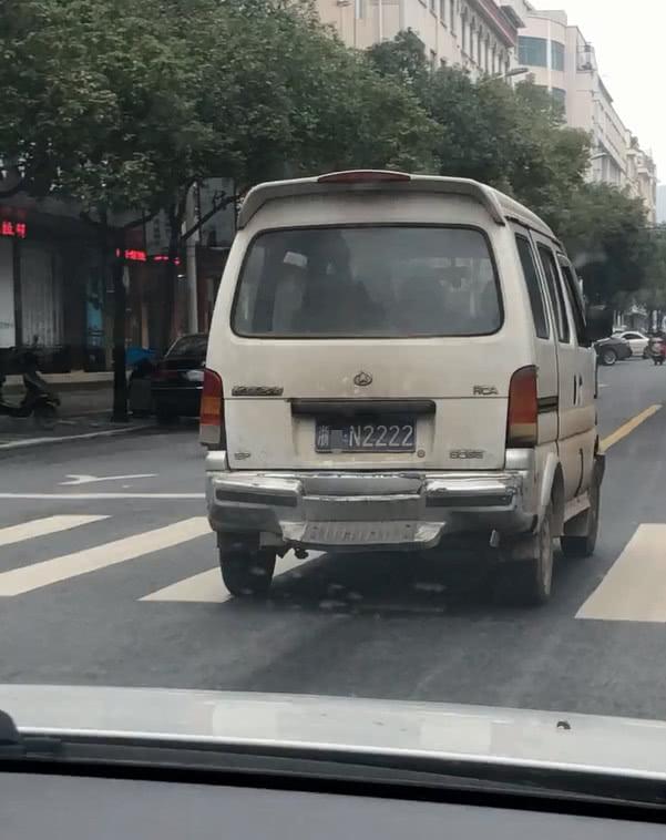 浙江现4连号神车长安之星,车牌不带一个8,霸气却不输4个8!