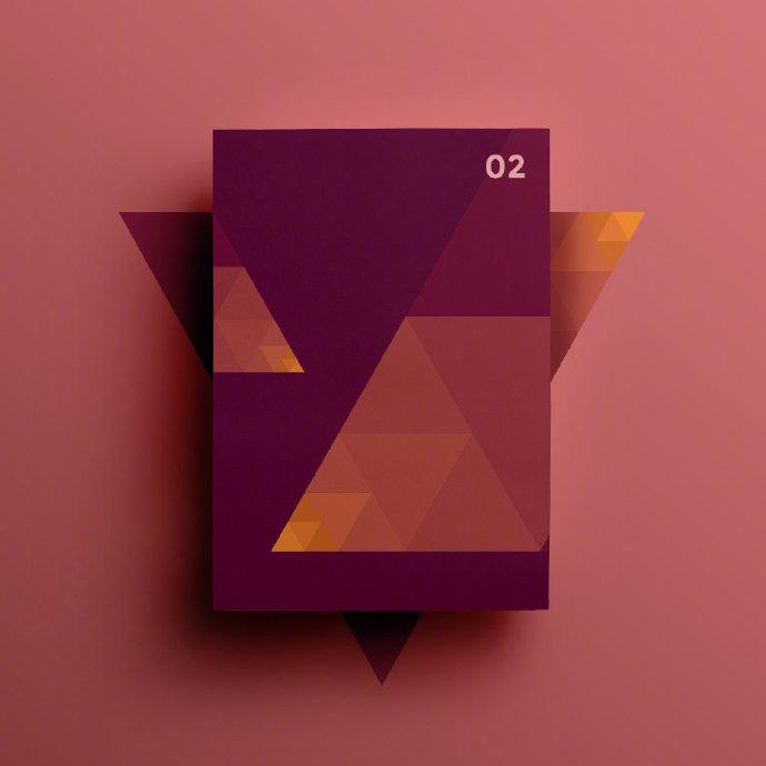 几何图形创意海报版式设计