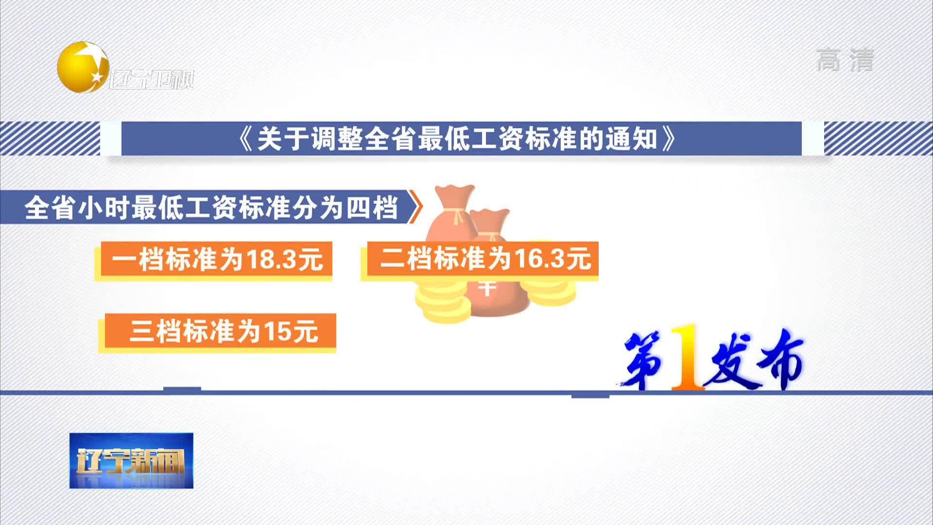 辽宁发布2019年最低工资标准和企业工资指导线