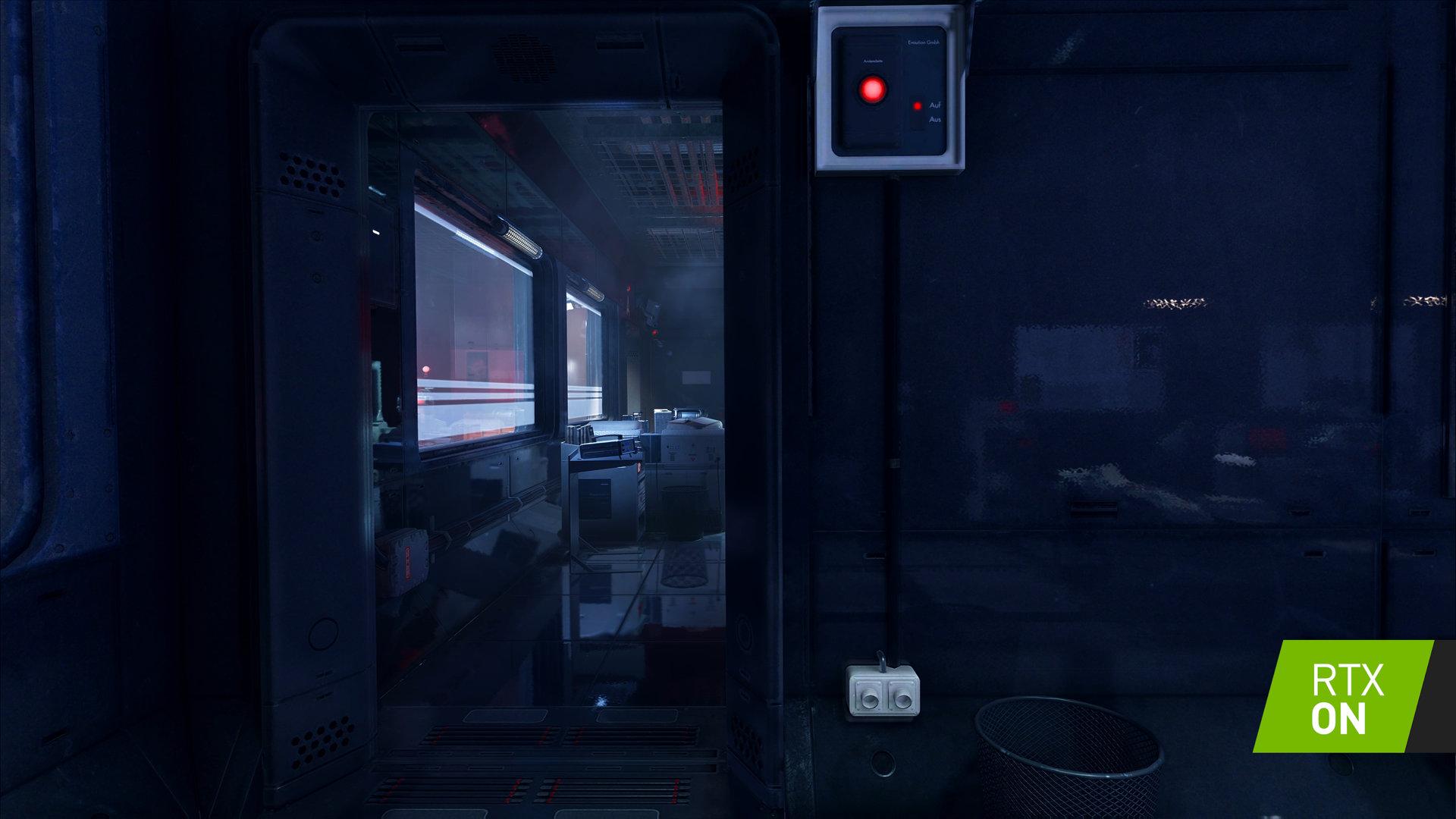 加入NVIDIA光线追踪技术的《德军总部