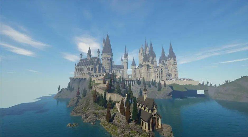 The Floo Network团队在《Minecraft》世界里设计了一个《哈利·波特》