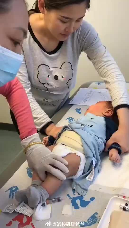 北京赴美生子客人带出生42天的宝宝打五联疫苗