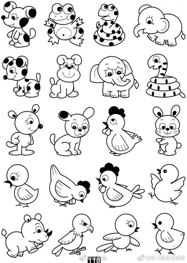 小动物简笔画,mark,陪孩子画着玩儿~(转)图片