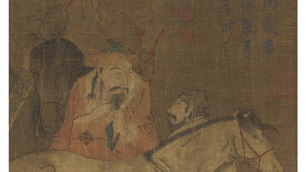 私享日历丨赵孟頫:一白一骊礧肉鬃,弗鞍双立屹秋风。