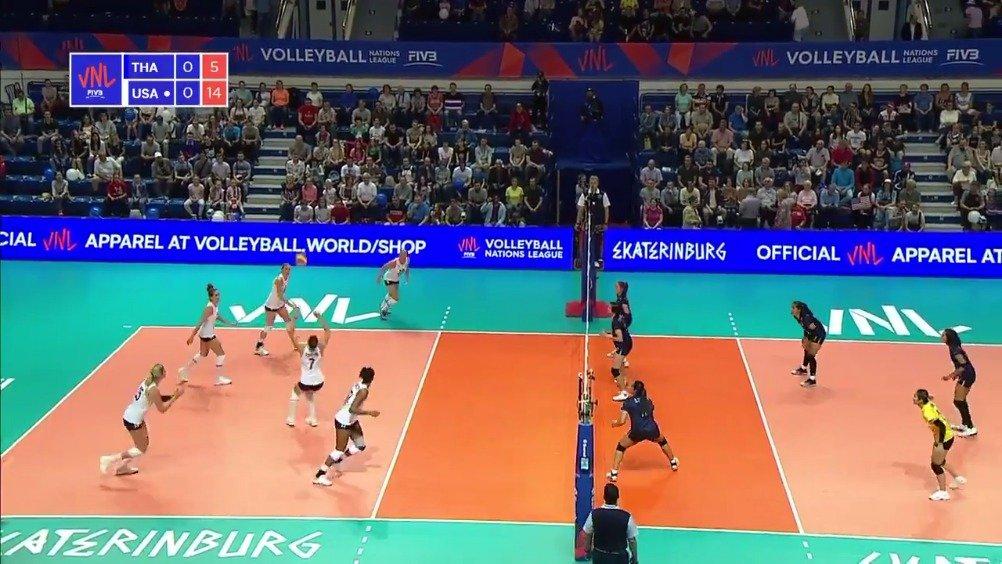 叶卡捷琳堡站:美国女排首局25-13泰国!