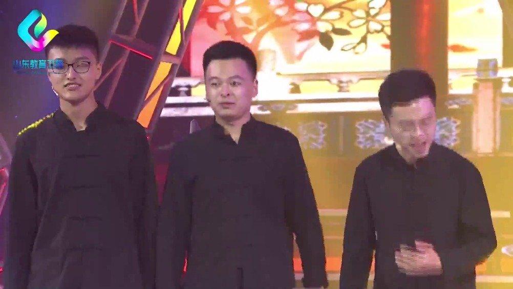 聊城大学的张扬扬、陶丽荣、王梓源、孟维鹏、刘明贺、樊雅文演唱《对
