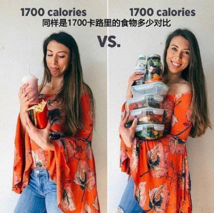 同样热量的食物,可以有完全不同的选择