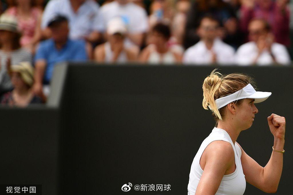 8号种子斯维托丽娜6-4/6-2击败了玛尔蒂奇,生涯首进温网八强。