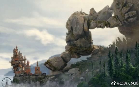 石头人舍命阻挡滑落的巨石,结果却遭到人类的攻击,最后它松了手。