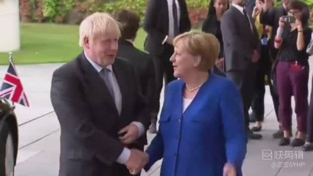 英国首相约翰逊访问德国柏林