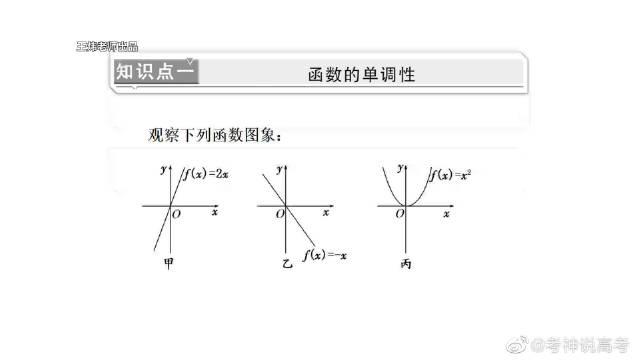 高中数学必修一:函数的单调性与最值、知识点。