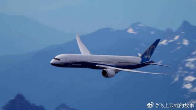 787-10和波音737MAX9,飞行展示空对空精彩视角!