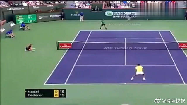 """网球场上""""神仙球""""纳达尔,这球打得小德直接摔拍子了!"""