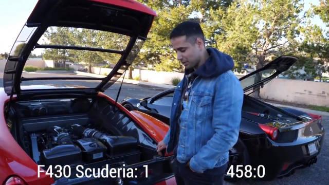 视频:这个评测好棒,法拉利458 Italia 对比F430 Scuderia !