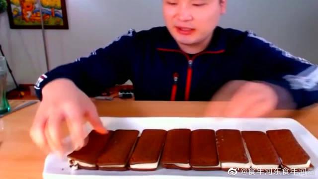 donkey吃10块巧克力蛋糕,入口滑顺不甜腻,浓浓巧克力味