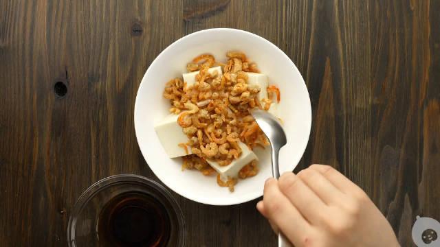 孕期营养食谱:虾干蒸豆腐