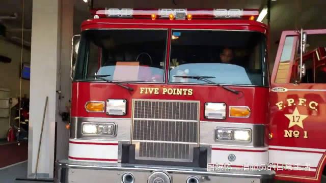 全面展示美国消防站皮尔斯消防车