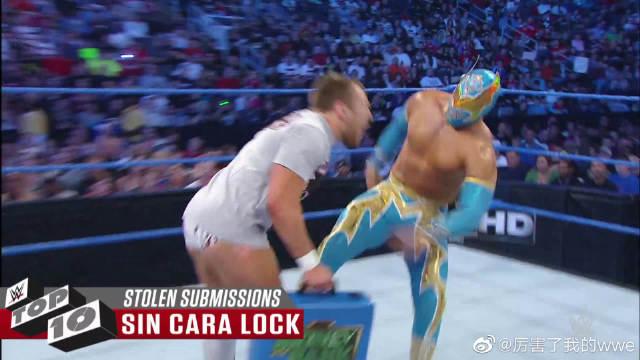 WWE十大终结技被剽窃事件,兰迪奥顿用STF锁技对付约翰塞纳!