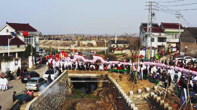 """""""江南第一大龙""""南京溧水骆山大龙,有着400多年的历史,新年来临"""