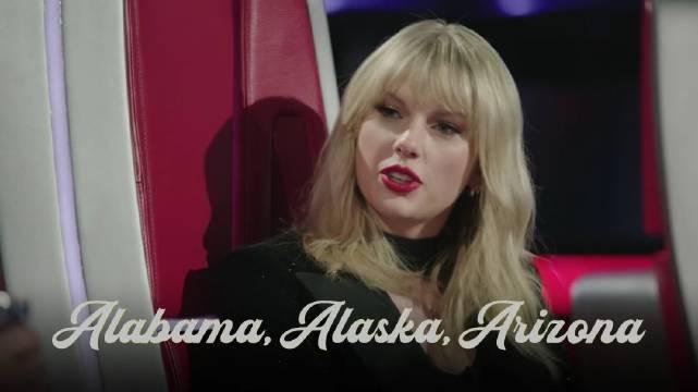 太可爱了!霉霉Taylor Swift做客美版The Voice担任超级导师