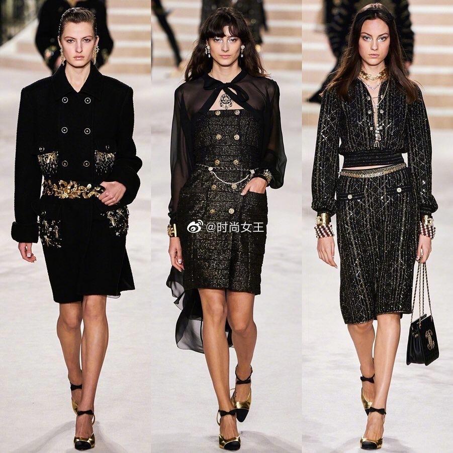 Chanel Pre-Fall 2020 |黑色摩登美学。