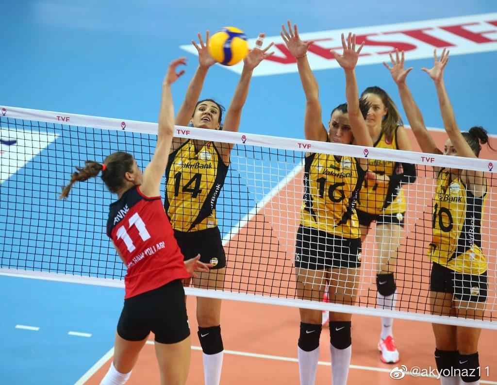 2019-2020赛季土耳其女排联赛第三轮,瓦基弗银行3-0土耳其航空