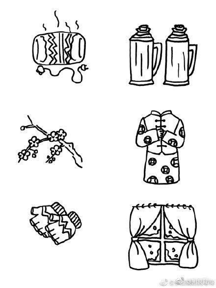 春节要来啦,一起来画关于冬天和过年的手绘简笔画吧 马 作者
