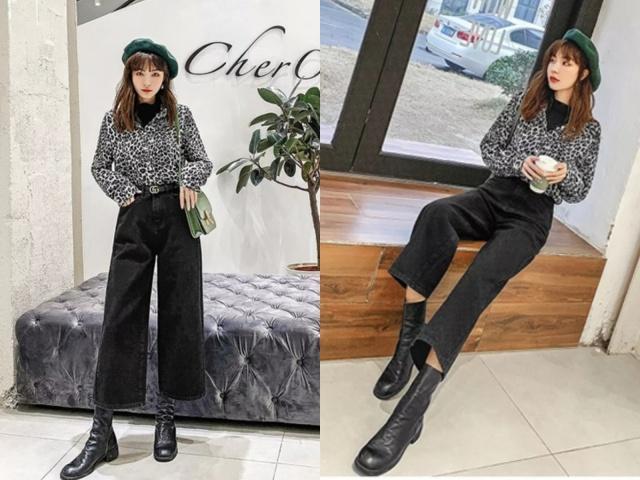 2019年最潮的搭配:短靴 牛仔裤,谁穿谁时髦!