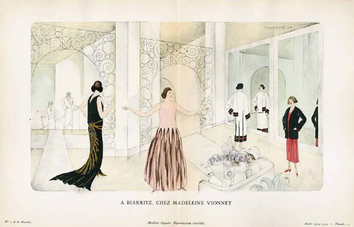 100年前的时尚杂志《Gazette du Bon Ton 》的插图