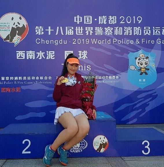 前温网青少年女单冠军列特齐瓦卡恩在网球项目大包大揽。