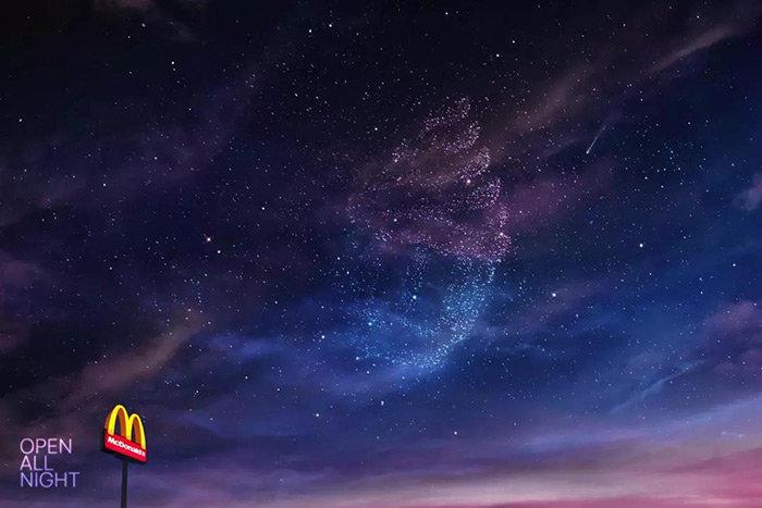 麦当劳24小时营业深夜主题海报1-3:沙特4-6:乌拉圭7-9:泰国