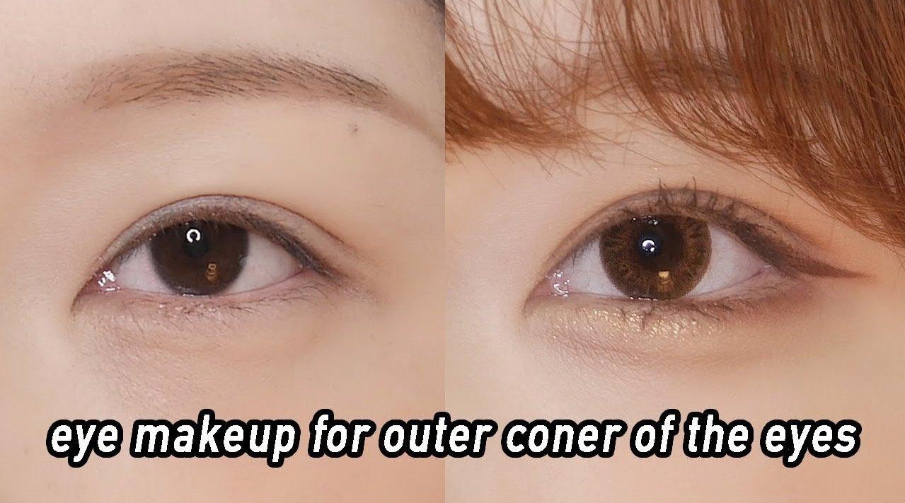 自带开眼角效果的韩系眼妆
