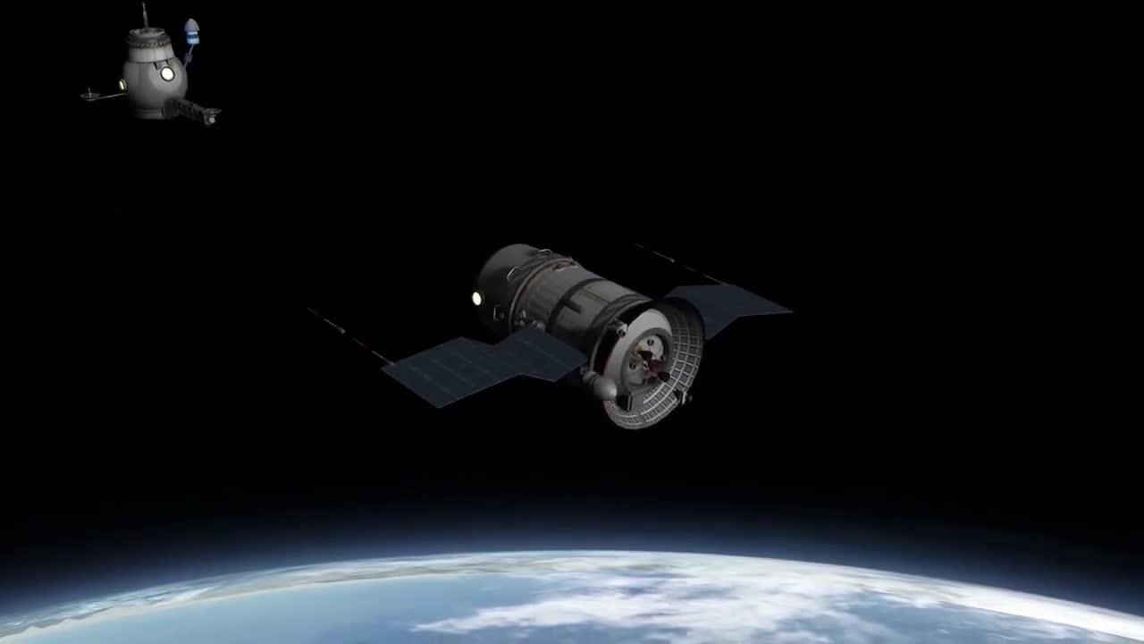 宝贵的视频:全程模拟,联盟11号载人太空船发射过程
